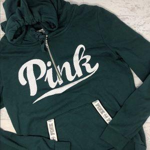 Victoria's Secret PINK Quarter Zip Pullover Hoodie